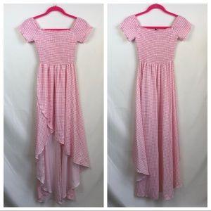 Show Me Your MuMu Willa pink gingham dress large